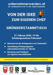 Gründerstammtisch im Schulungszentrum Fohnsdorf