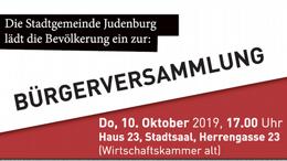 Bürgerversammlung der Stadtgemeinde Judenburg
