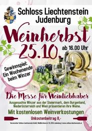 Weinherbst auf Schloss Liechtenstein